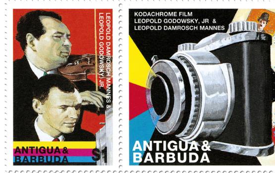 Francobollo Antigua e Barbuda Leopold Mannes Leopold Godowsky Jr kodachrome 10 novembre 1998