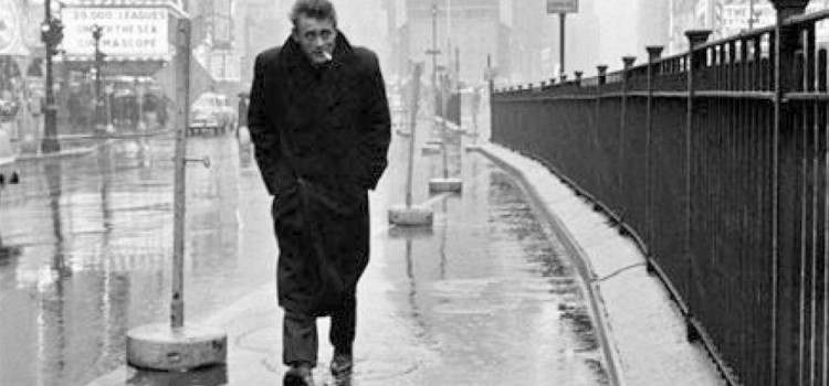 Dennis Stock - James Dean in Times Square (New York, 1955)